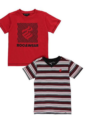 Boys Rocawear 2-Pack T-Shirts  (Sizes 4-6)