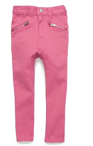 Girls Zipper Pocket Fashion Pants