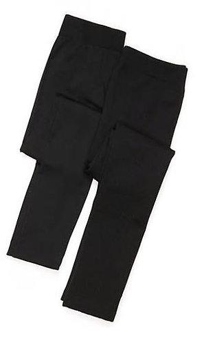 Cable Knit Black Legging Set