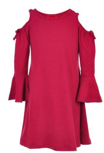 1st Kiss Little Girls' Cold Shoulder Dress (Size 6)