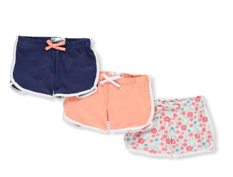 Pink Velvet  Girls' 3-Pack Shorts (Size 5/6)