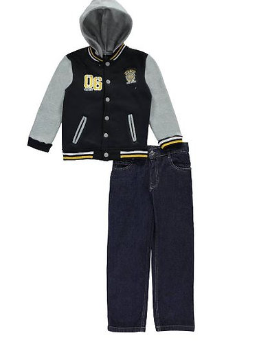 """LITTLE BOYS' """"RACING DIVISION"""" 2-PIECE OUTFIT (Size 4)"""