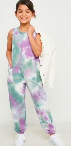 Tie-Dye Pocket Jumpsuit