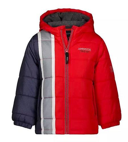 Side Stripe Puffer Jacket (Sizes 4-7)