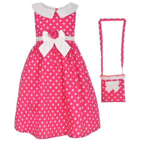 Polka Match Dress with Purse (Size 2T)