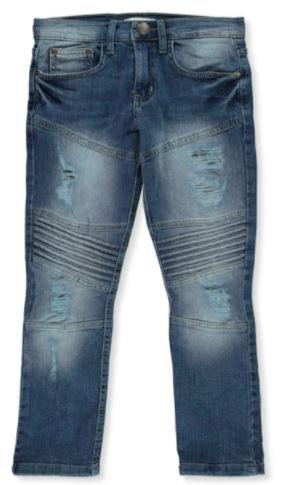 GS-115 Boys' Slim-Fit  Moto Jeans