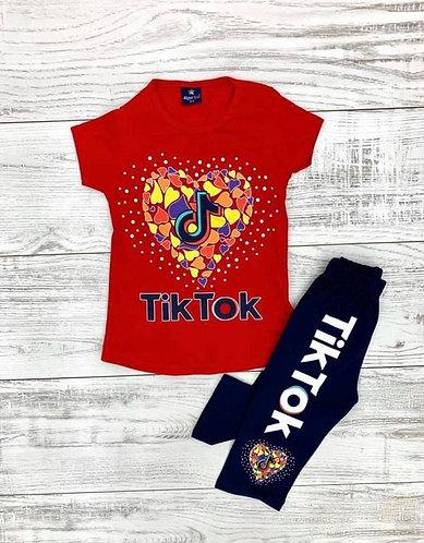 Girls Tik Tok Pant Set