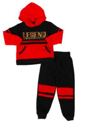 2pc Legend Color Block Pullover Hoodie & Jogger Pants Set