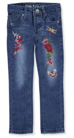 Pink Velvet Girls Skinny Jeans (Size 2T)
