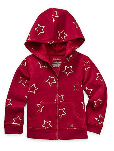 Fleece Toddler Girls Cuffed Sleeve Hoodie & Pant Set