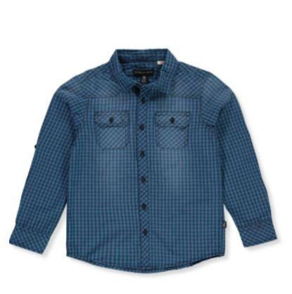 Boys' Checker Button-Down Shirt