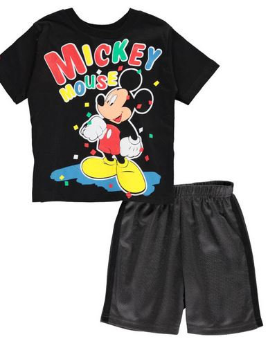 Boys Mickey Mouse 2pc Short Set