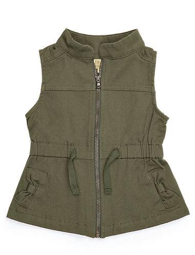 Girls Olive Vest