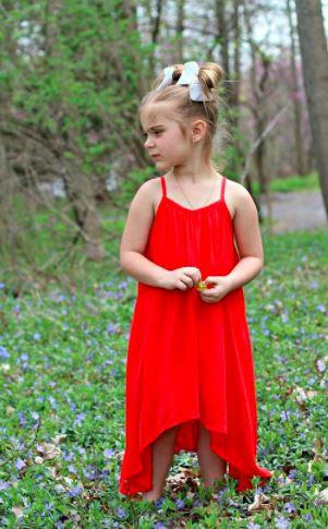 Girls Asymmetric Summer Dress