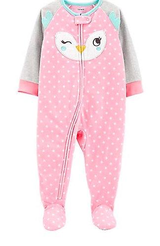 Carter's Toddler Girls One Piece Owl Fleece Footie Pajamas