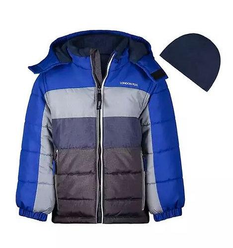 Boys Color Block Puffer Jacket