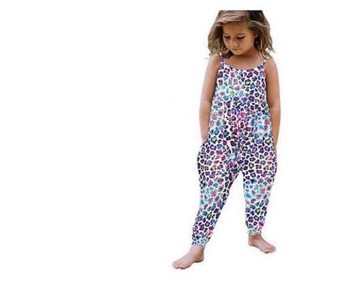 Girls Sleeveless Printed Stylish Jumpsuit