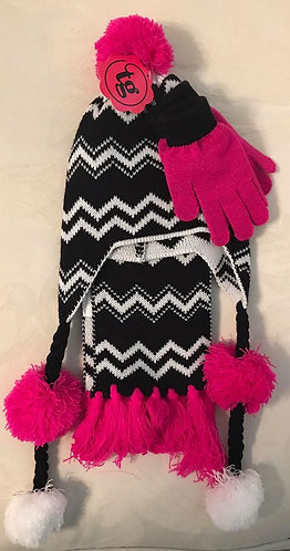3pc Hat, Scarf, Gloves