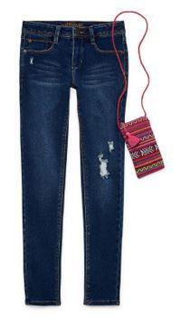 Wallflower Skinny Jean w/Mini Cross-body Bag