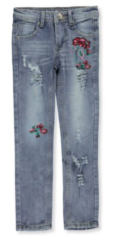 Pink Velvet Girls Skinny Jeans
