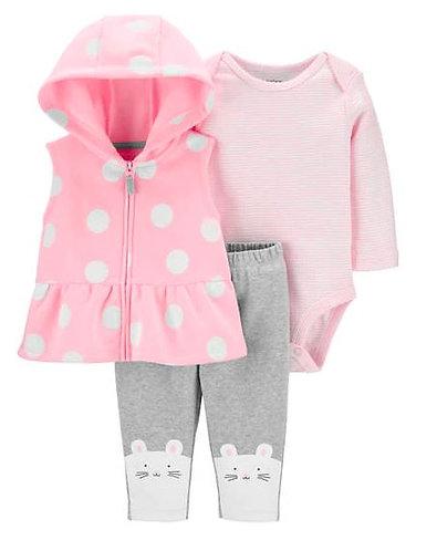 Carter's Baby 3-Piece Polka Dot Little Vest Set