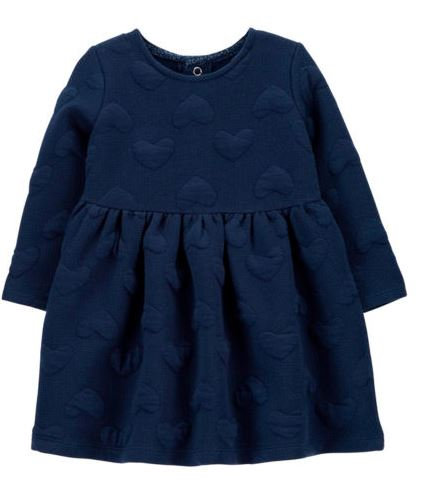Baby Girls Long Sleeve Fitted Sleeve A-Line Dress