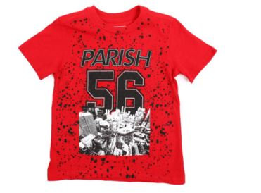 Parish Crimson Red Graphic Tee