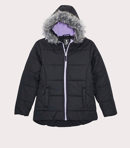 Girls Quilted Puffer Coat