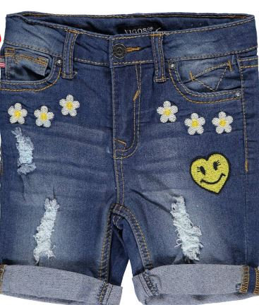 "Vigoss Little Girls' Toddler ""Daisy Patch"" Bermuda Shorts"