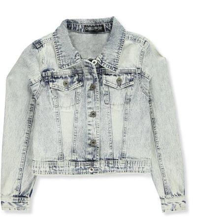 Acid Wash Denim Jacket (Size 14/16)