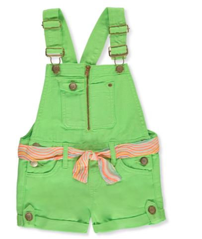 GIRLS' DENIM SHORTALLS