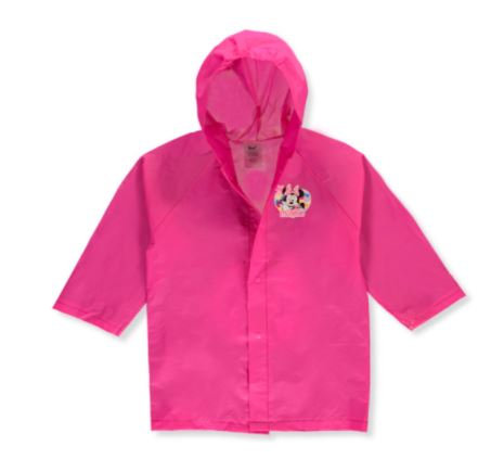 Disney Minnie Mouse Girls' Hooded Raincoat