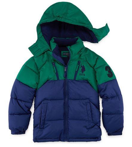 Us Polo Assn. Heavyweight Puffer Jacket-Big Boys (Size 14/16)