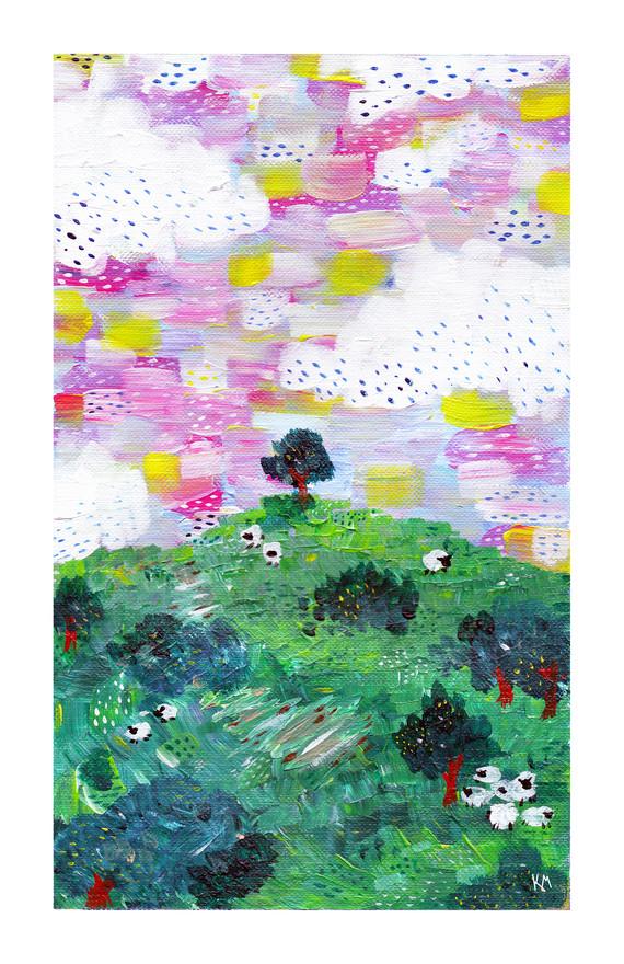 Hillside Sheep by Kayla Kinsella Meier