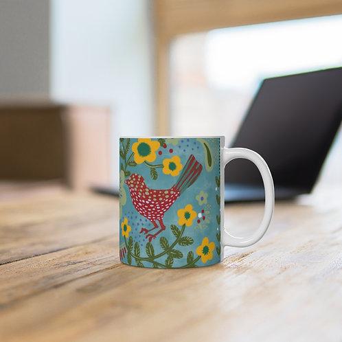 """""""Strawberry Birds"""" 2021 Ceramic Mug (EU)"""