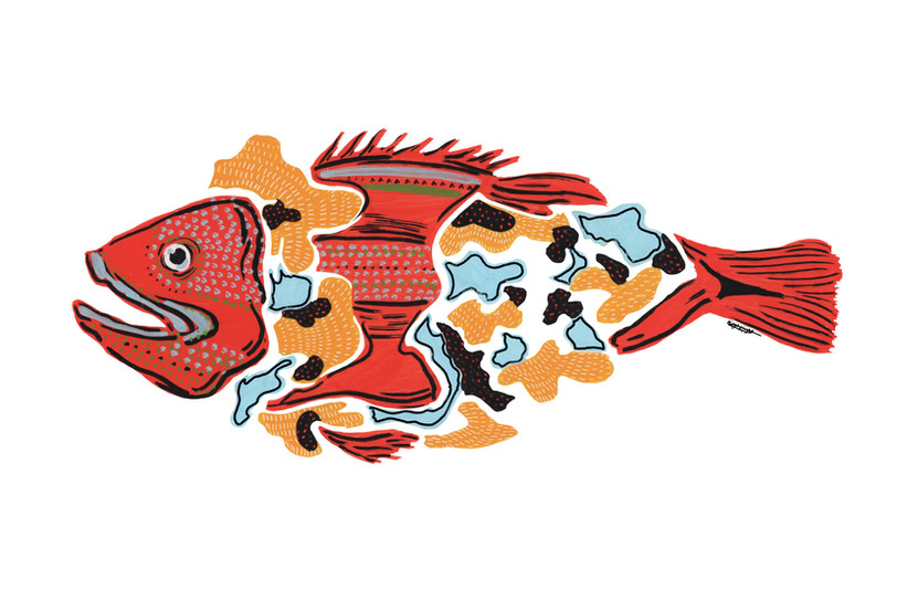 """Fish Dish"" 2019, Kayla Kinsella Meier"