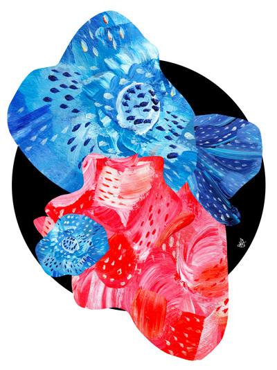 Flower Collage 1 by Kayla Kinsella Meier