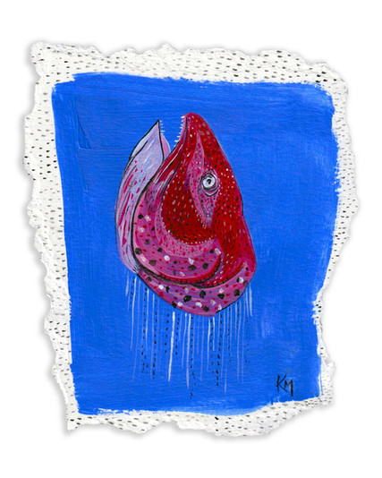 Salmon Head, 2021, Acrylic