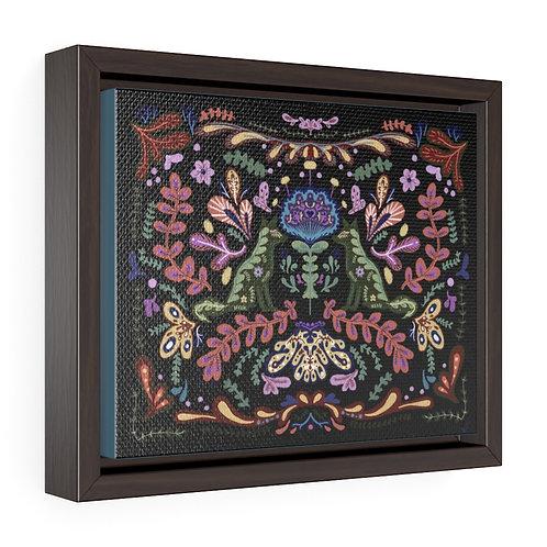 """Folk Foxes"" 2021 Black Framed Premium Gallery Wrap Canvas"