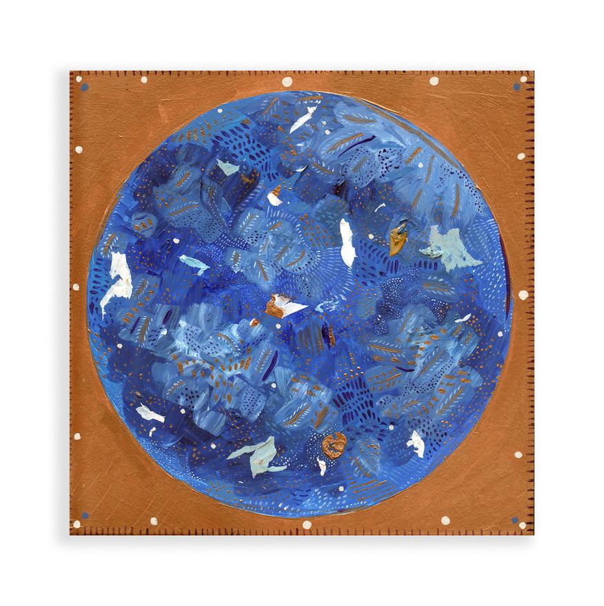 Moon, 2019, Acrylic on Wood Canvas
