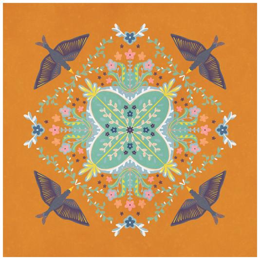 Orange Birds, 2020, Digital
