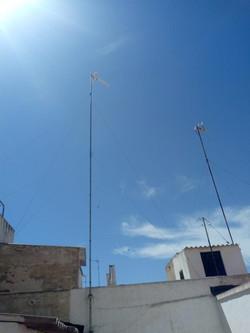 Instalacion de antena tdt, torreta en el