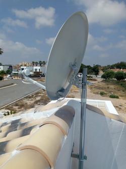 Instalacion de antena parabolica astra 1