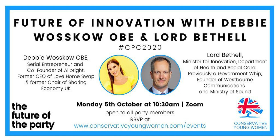 The Future of Innovation with Lord Bethell & Debbie Woskow OBE