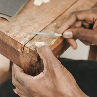 Each piece is made by hand