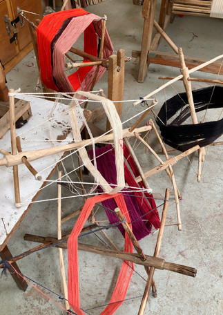 colourful-cotton-threads-handspun-winder
