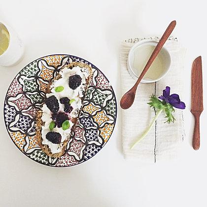 Mninga Wood Breakfast Set