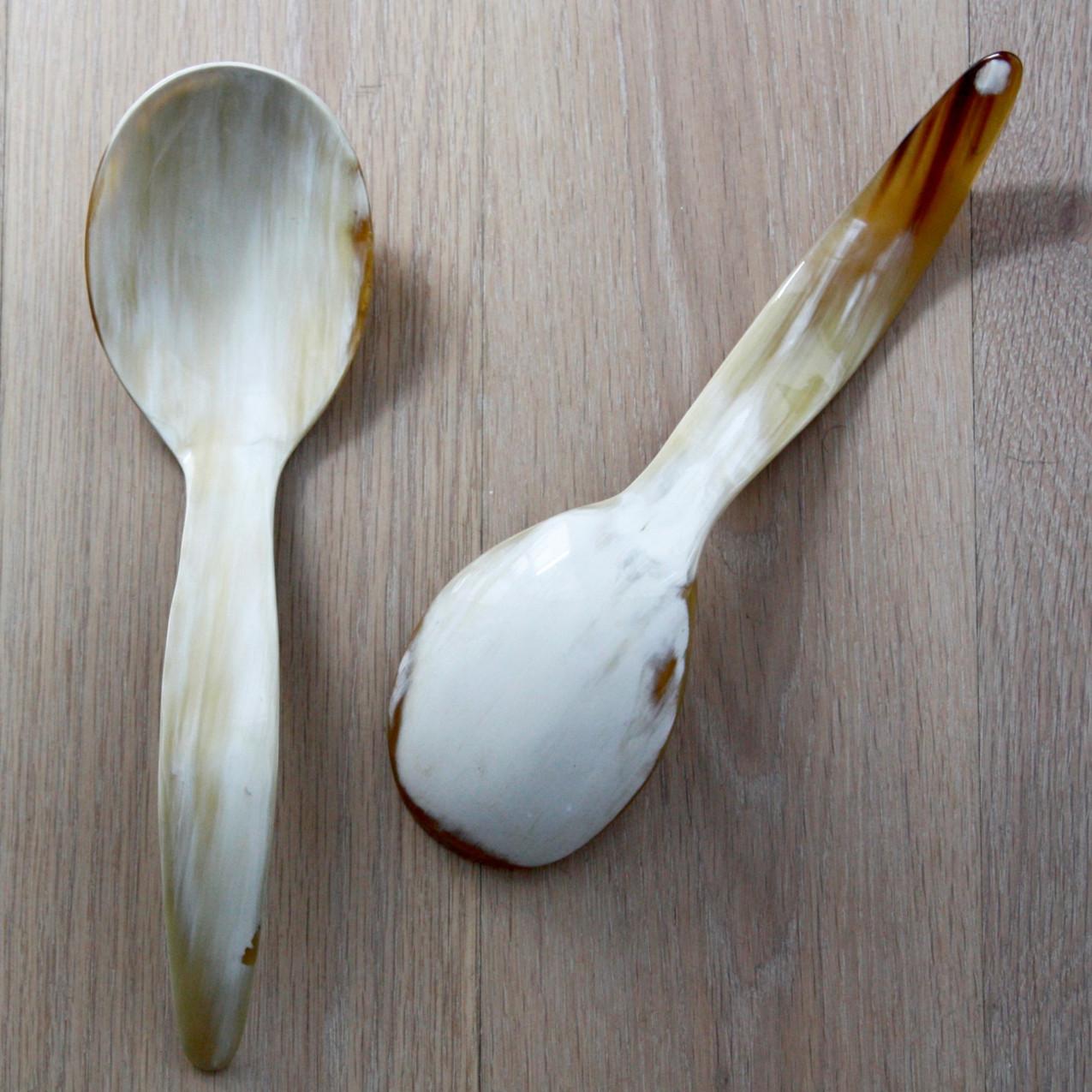 Ankole Horn Serving Spoons