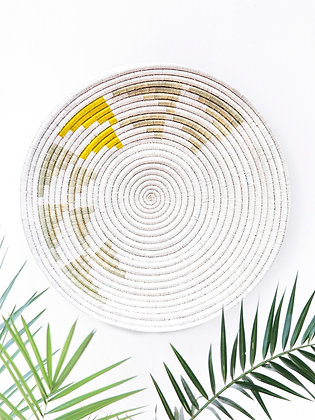 Inyabu Wall Basket -Yellow