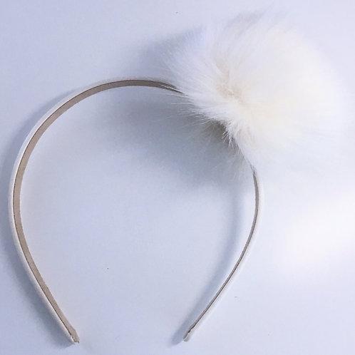 single pom pom hairband